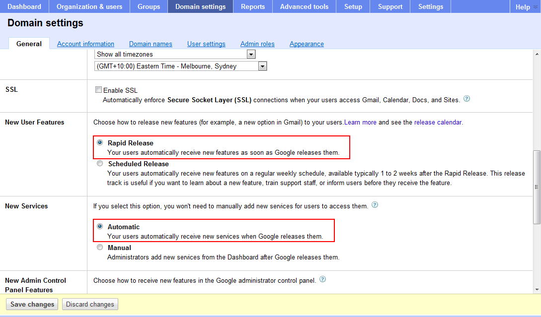 Google Drive is not yet enabled for your Google Apps domain
