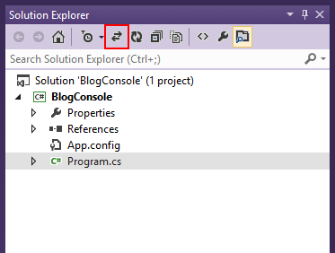 Go to active document in solution explorer