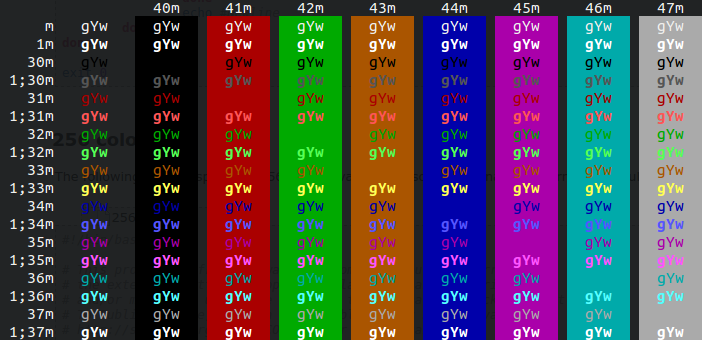 Print Colour Scheme Compact