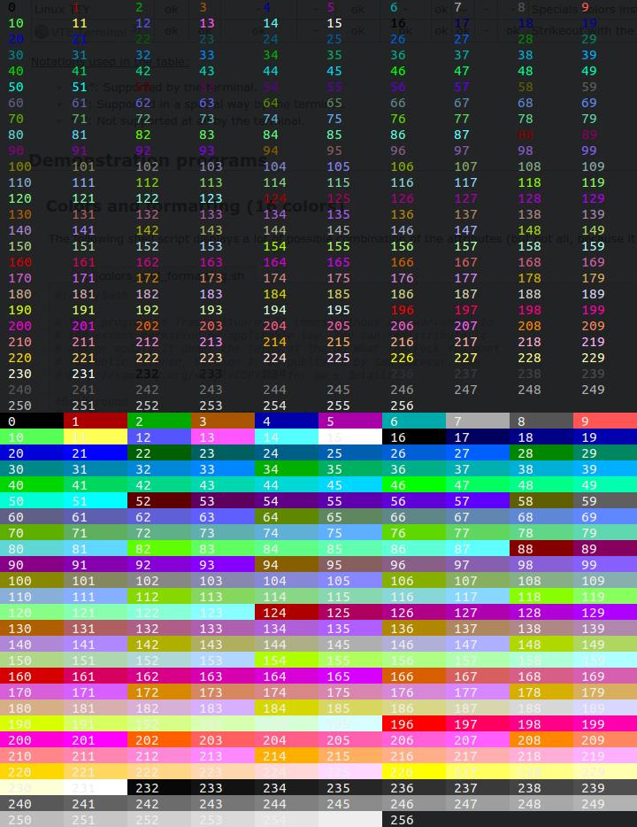 72 Print Color Bash Script