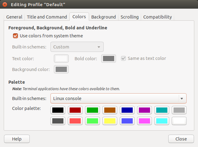 Colours and formatting in Gnome/Ubuntu's Terminal - Growing